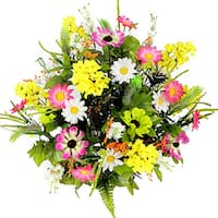 Admired by Nature 36 Stems Artificial Full-blooming Lilac, Daisy, and Black-eyed Susan with Foilage Mixed Flowers Bush