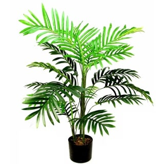 Admired by Nature Paradise Palm 3' Artificial Tree/Plant in Green Plastic Pot