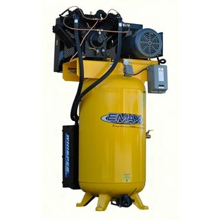 EMAX Industrial Plus 10HP 3-phase 80 Gallon Vertical Compressor with Air Silencer