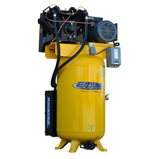 EMAX Industrial Plus 7.5 HP 3 PH 80 GALLON VERTICAL WITH AIR SILENCER|https://ak1.ostkcdn.com/images/products/12972661/P19721003.jpg?impolicy=medium