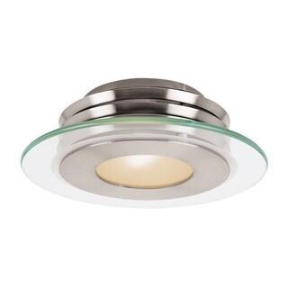 Access Lighting Helius 1-light Brushed SteelFlush Mount