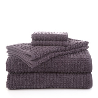 Martex Staybright Textured 6-Piece Towel Set