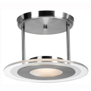Access Lighting Helius 1-light Brushed SteelSemi-Flush Mount