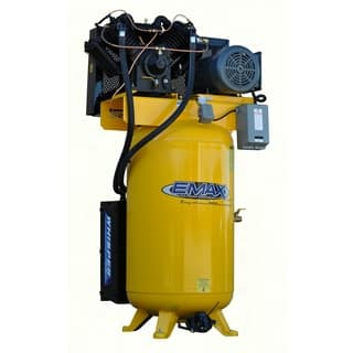 EMAX Industrial Plus 10HP 1-phase 80 Gallon Vertical Compressor with Air Silencer|https://ak1.ostkcdn.com/images/products/12972686/P19721004.jpg?impolicy=medium