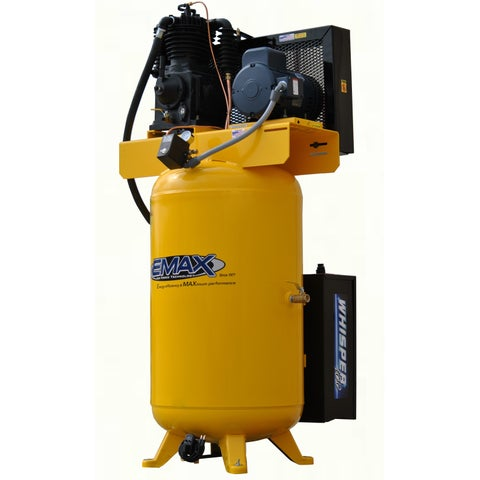 EMAX Industrial Plus 5HP 1-phase 80 Gallon Vertical Compressor with Air Silencer