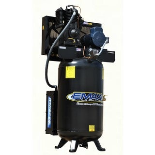 EMAX Industrial Silent Air 10HP 1-phase 80 gallon Vertical Air Compressor