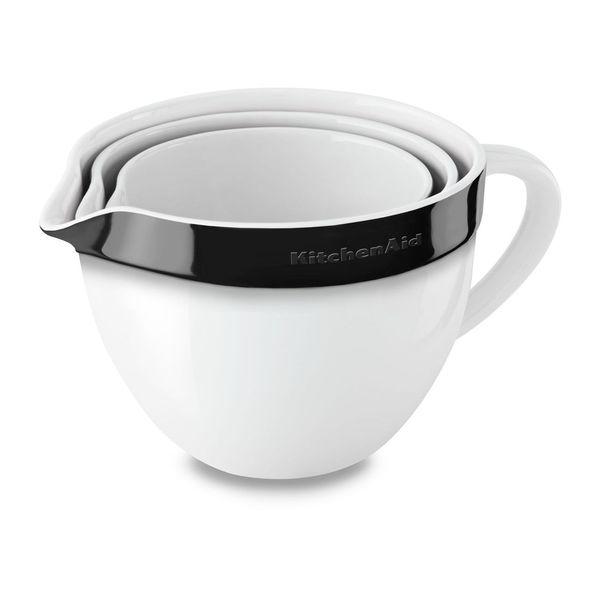 Shop Kitchenaid Ceramic Nesting Mixing Bowl Set Onyx