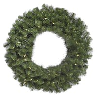 Douglas Fir 60-inch Wreath with 200 Warm White LED Lights