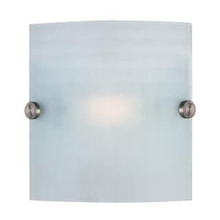 Access Lighting Radon 1-light Brushed Steel Wall Sconce