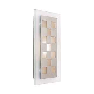 Access Lighting Aquarius 1-light Brushed Steel Wall Sconce