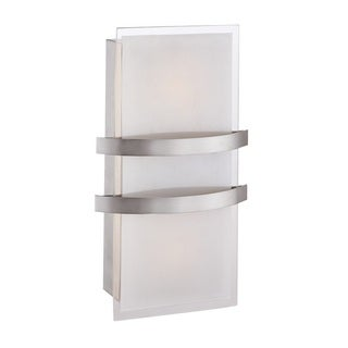 Access Lighting Metro LED Brushed Steel Wall Sconce