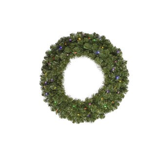 30-inch Grand Teton Wreath 50 Multi-Colored LED Lights