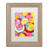 Amy Vangsgard 'Rose Garden Circles Vertical 3' Matted Framed Art