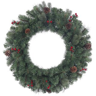 Vickerman 30-inch 165-tip Wesley Mixed Pine Wreath