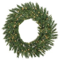 Vickerman 48-inch Imperial Pine Wreath with 200 Clear Dura-lit Lights and 300 Tips