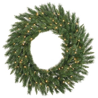36-inch Imperial Pine Wreath With 100 Clear Dura-Lit Lights