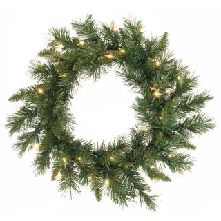 Imperial Pine 24-inch Wreath with 50 Clear Dura-Lit Lights