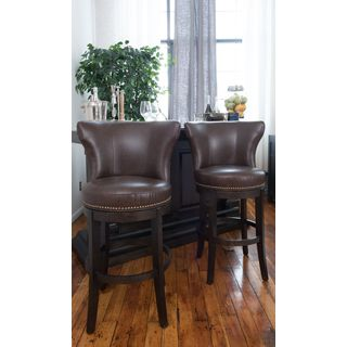 Sunpan 5west Maison Leather Swivel Counter Stool Free
