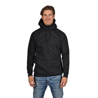 ARSNL Solid Black Cotton/ Poly Ninja Hoodie Ribbed Quilted Sweater