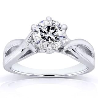Annello by Kobelli 14k White Gold Certified 1ct Diamond Eco-Friendly Lab Grown Diamond Solitaire Cri