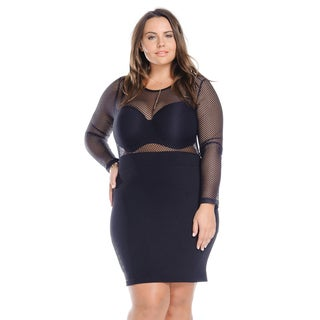 Hadari Women's Plus Size Sexy Cocktail Party Short Dress