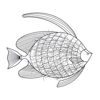 Artiistic Seafish Wall Art