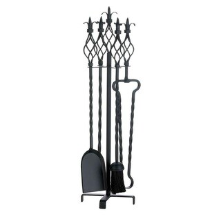 Twirling 5-Piece Fireplace Tool Set