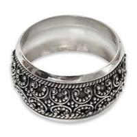 Handmade Sterling Silver 'Celuk Garland' Ring (Indonesia)