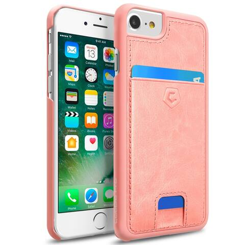 Cobble Pro CobblePro Leather Textured Back Cover with Card Slots for Apple iPhone 6/ 6S/ 7