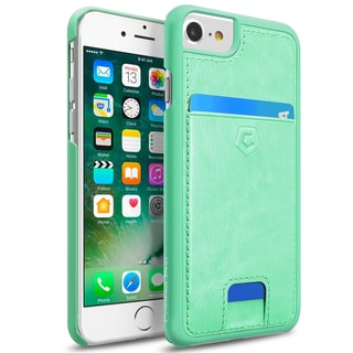 CobblePro Leather Textured Back Cover with Card Slots For Apple iPhone 6/ 6S/ 7