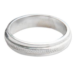 Handmade Sterling Silver 'Artful' Ring (Indonesia)