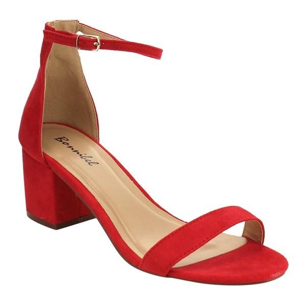 Bonnibel Single Ankle Women's Middle Shop Block Strap Heel Sole UMzqVpS