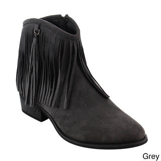 Grey Booties - Overstock.com Shopping - Trendy, Designer Shoes