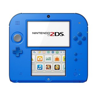 Nintendo 2DS Electric Blue Bundle With Mario Kart 7