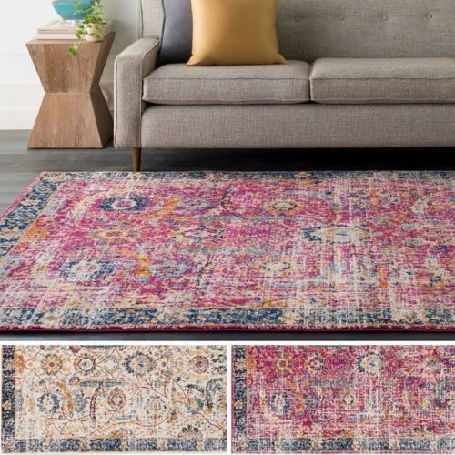 Kinsey Distressed Vintage Area Rug - 2' x 3'