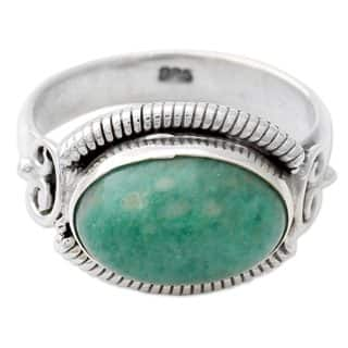 sterling ring aqua blue amazonite silpada i silver tradesy rings