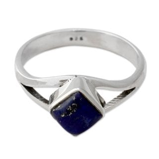 Handcrafted Sterling Silver 'Regal Blue' Lapis Lazuli Ring (India)