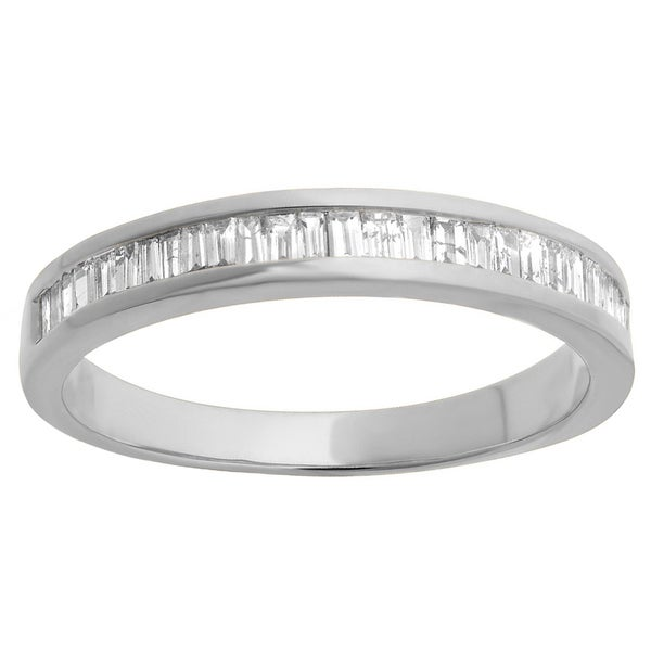 10k Gold 1/8ct TDW Diamond Stackable Anniversary or Wedding Band