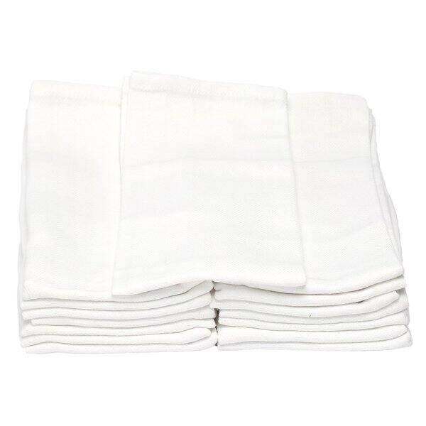 Melange White Cotton 14 x 25 Commercial Grade Classic Kitchen Towels (Case  of 15)