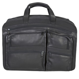 Scully Leather Black Leather Laptop Computer Brief Bag