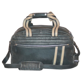 Scully Leather Black Sanded Calfskin Dual-handle Duffel Bag