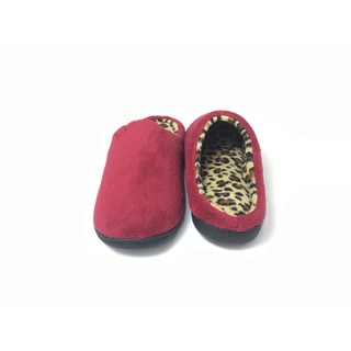 Beverly Rock Women's Cotton Leopard Insole Plush Clog Slipper