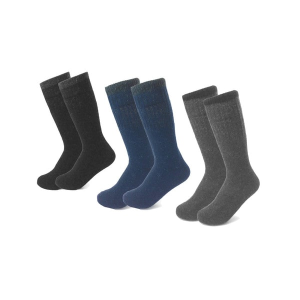 ea8393fdc40 Shop All Season Men s Heavyweight Socks (6-pack) - Free Shipping On Orders  Over  45 - Overstock - 12977935