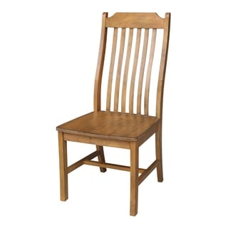 Steambent Natural Wood Mission Chair (Set of 2)