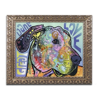 Dean Russo 'Great Dane Luv' Ornate Framed Art