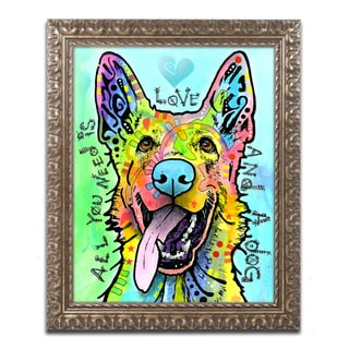 Dean Russo 'Love And A Dog' Ornate Framed Art