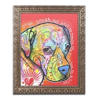 Dean Russo 'Dogs Speak' Ornate Framed Art