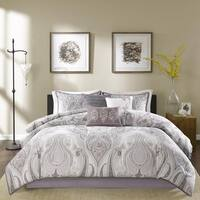 Madison Park Morena Purple Cotton King Size Comforter Set (As Is Item)