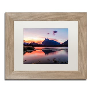 Pierre Leclerc 'Vermilion Lakes Sunrise' Matted Framed Art