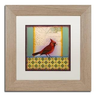 Rachel Paxton 'Cardinal' Matted Framed Art